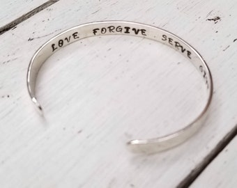 Mother Daughter Love Cuff Bracelet