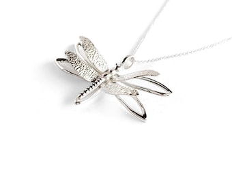 ZR Sterling Silver Full of Life Dragonfly Necklace