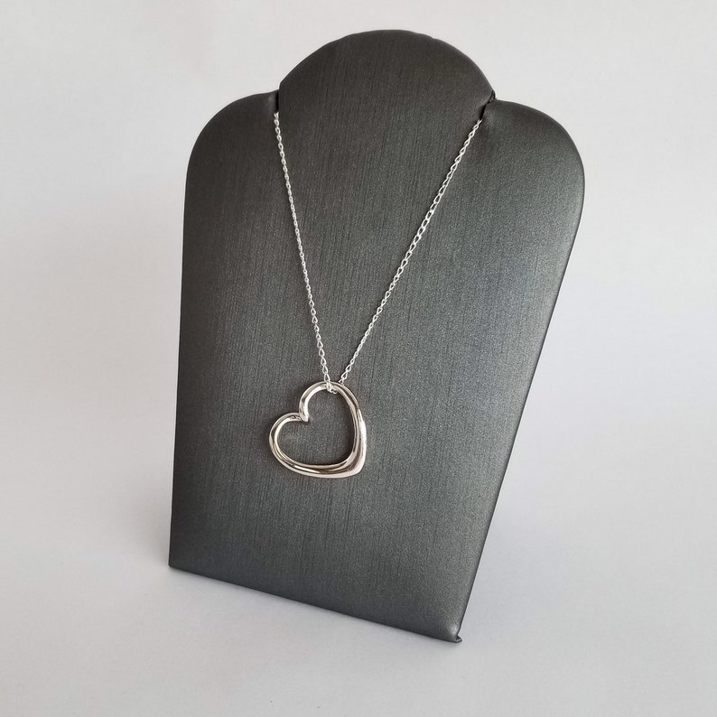 Bliss Heart Necklace in Sterling Silver Mothers Day Gift Gift idea for Her Love Necklace Heart Pendant with Silver Chain