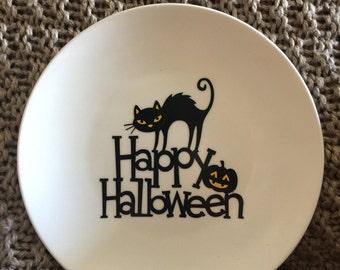 Happy Halloween Stoneware Decorative Plate