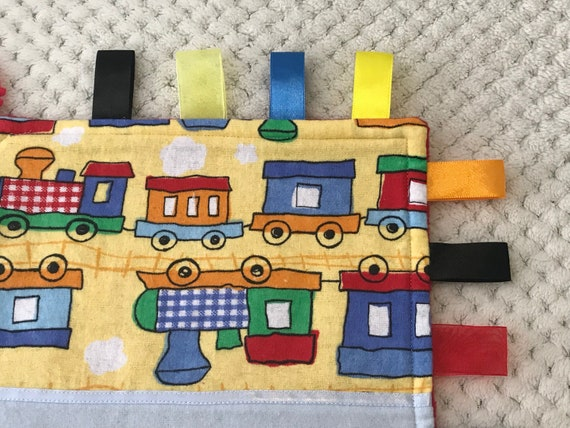 Train Baby Boys Personalised Taggy Security Blanket