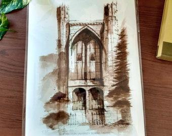 Northwestern U Deering Fine Art Print