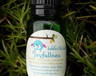 Joyfullness 100% Therapeutic Grade Essential Oil Blend Small Batch