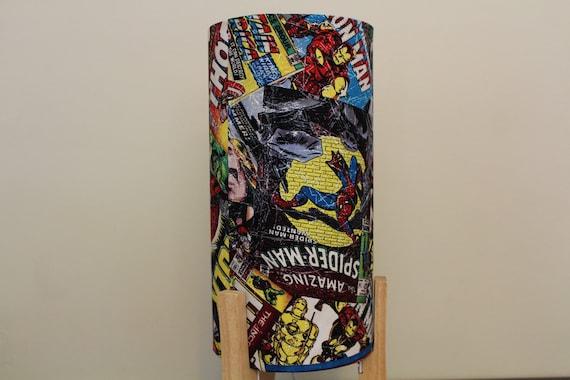 Marvel Super Heros Lampe Avengers Spiderman Hulk Iron Etsy