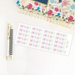 Birthday Planner Stickers, Birthday Stickers for Planner, Erin Condren Planner Stickers, Simplified Planner Stickers, PG123