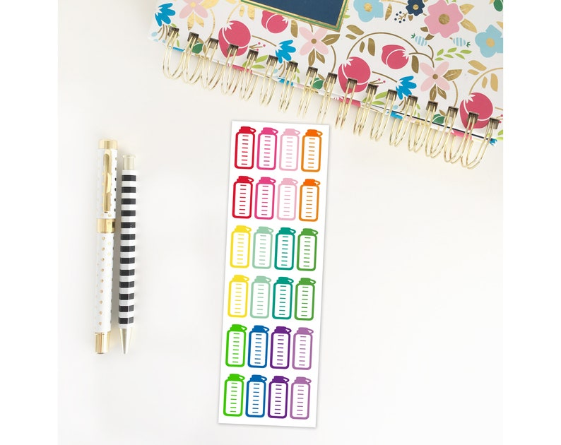 Hydrate Planner Stickers / Water Bottle Stickers / Erin image 0
