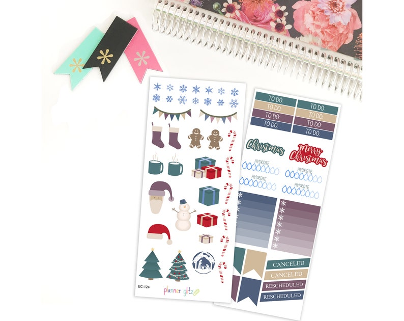 Christmas Stickers Christmas Planner Stickers Erin Condren image 0