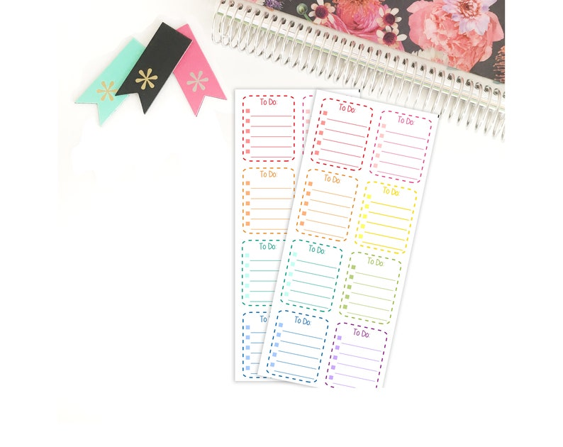 To Do Boxes  Dotted Lines Stickers for your Life Planner image 0
