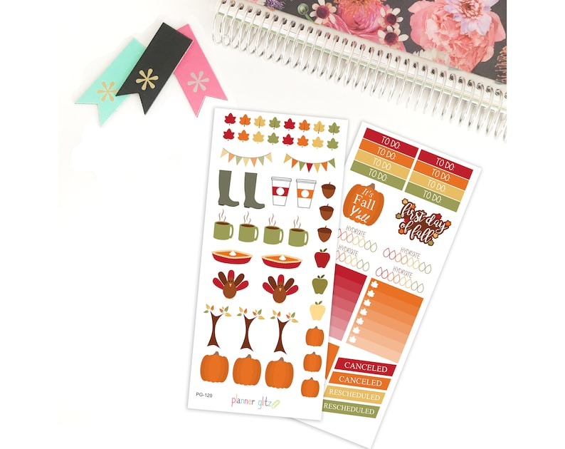 Fall Stickers Fall Stickers for Planners Fall Erin Condren image 0