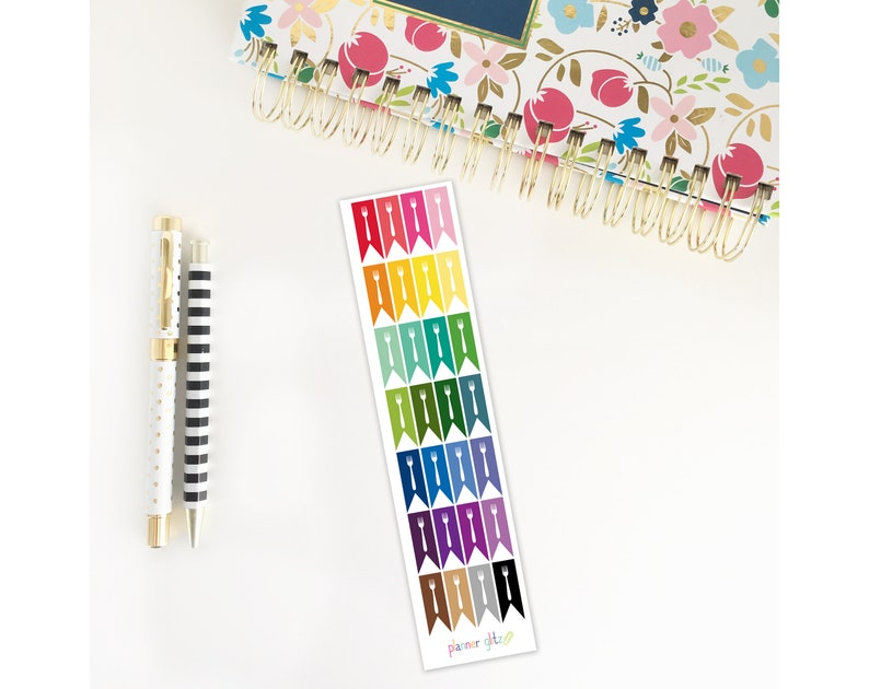Fork Planner Stickers / Healthy Meal Plan / Erin Condren image 0
