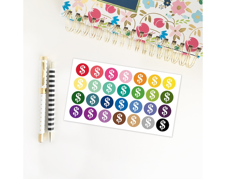 Money Planner Stickers / Pay Day / Bills Due / Dollar Sign/ image 0