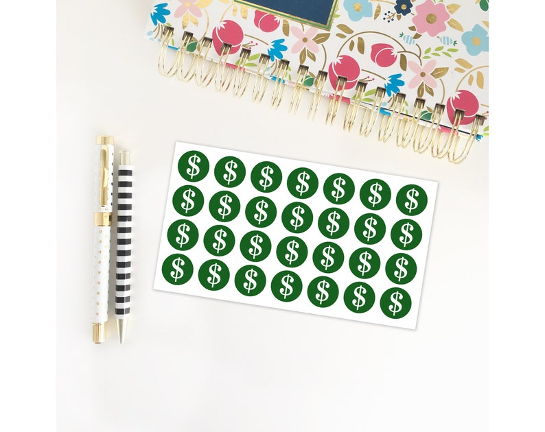 Money Planner Stickers / Dollar Sign / Pay Day / Bills Due / image 0
