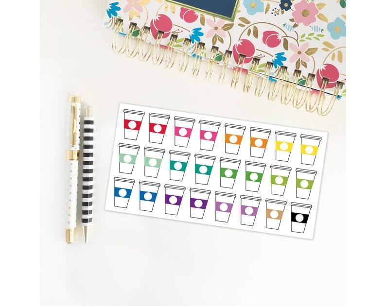 Coffee Cup Stickers / Planner Stickers / Erin Condren / image 0