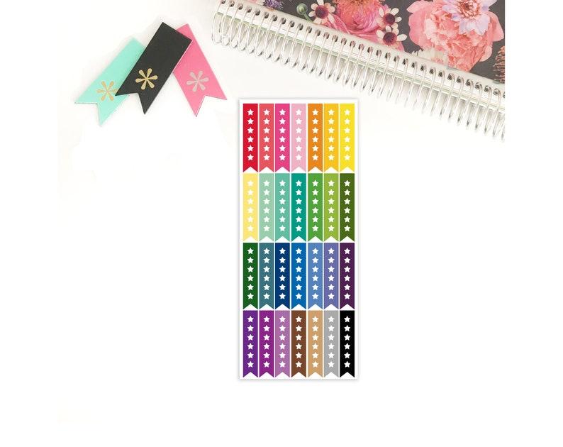 Checklist Stars Planner Stickers / To Do List / Erin Condren image 0