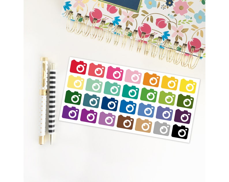Camera Stickers / Photography / Erin Condren Stickers / image 0