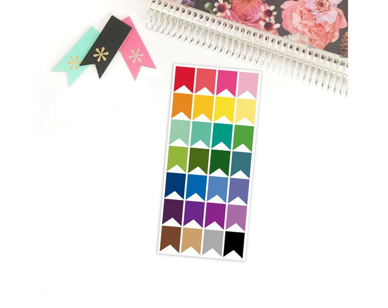 Small Box Flags Multicolored Stickers for your Life Planner image 0