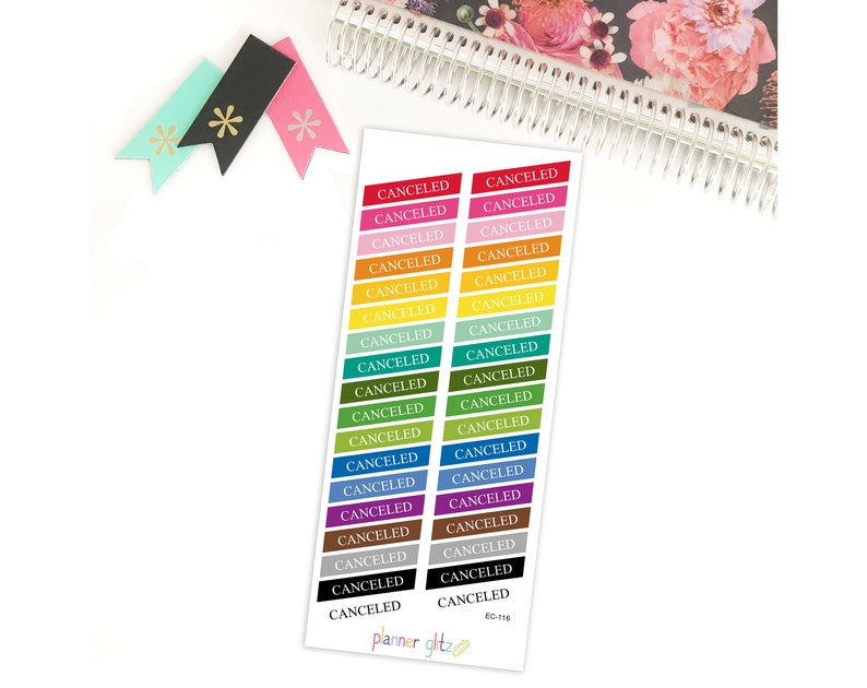 Canceled Planner Stickers / Canceled Stickers / Erin Condren image 0