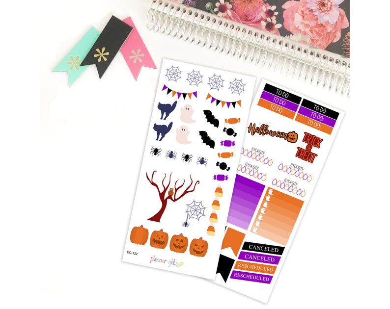 Halloween Stickers Halloween Planner Stickers Erin Condren image 0