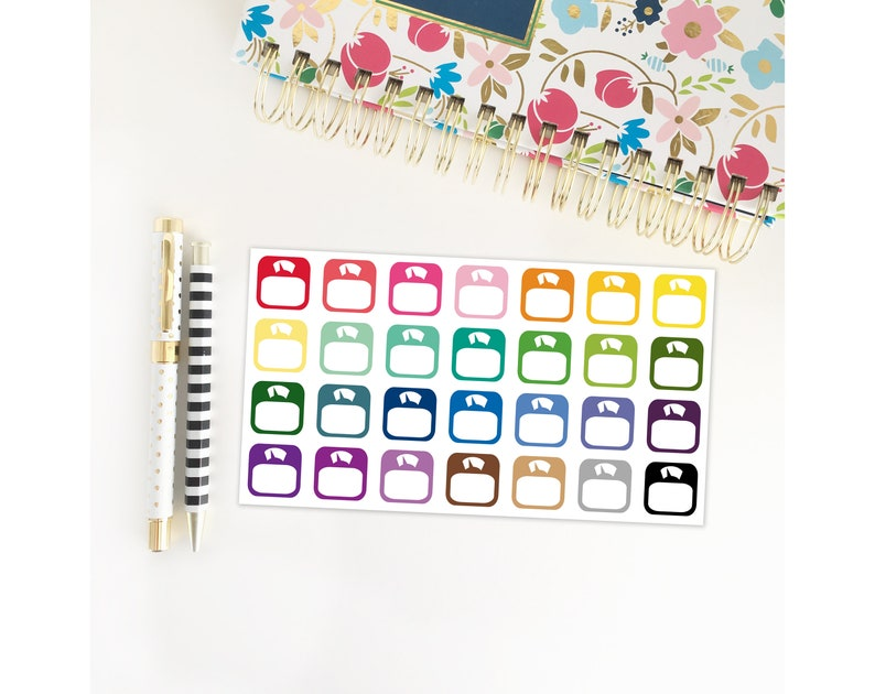 Weight Scale Stickers for your Life Planner image 0