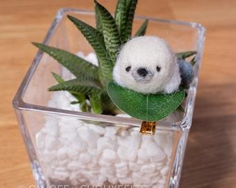 Seal Needlefelt Hair Clip DIY Kit Japanese Wagashi Inspired Animal Children's Hairclip