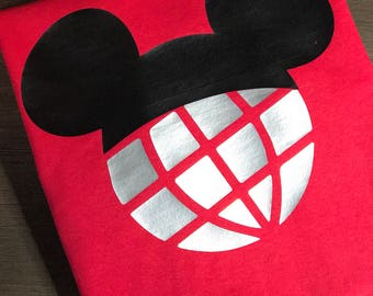 Disney Shirt, Mickey ears, Mickey, Epcot, Glitter, Trip, Vacation, Kids, Mens, Ladies, Womens, Plus Size