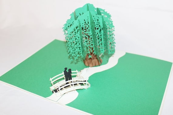 Willow tree pop up card birthday card greeting card m4hsunfo