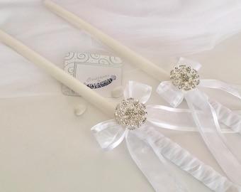Wedding Candle Set-Lambathes-Greek Wedding-Orthodox Wedding Candles