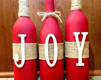 Ensemble de bouteille de vin de la joie