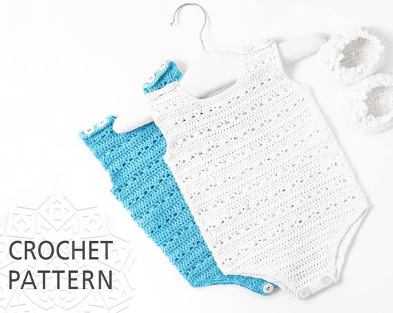 Baby Romper Crochet Pattern Baby Clothes Newborn Gift Size Etsy