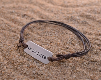 Personalized Band Bracelet | Anniversary Gifts For Boyfriend | Gift For Men | Couples Jewelry | Gift for Boyfriend | Promise Bracelet