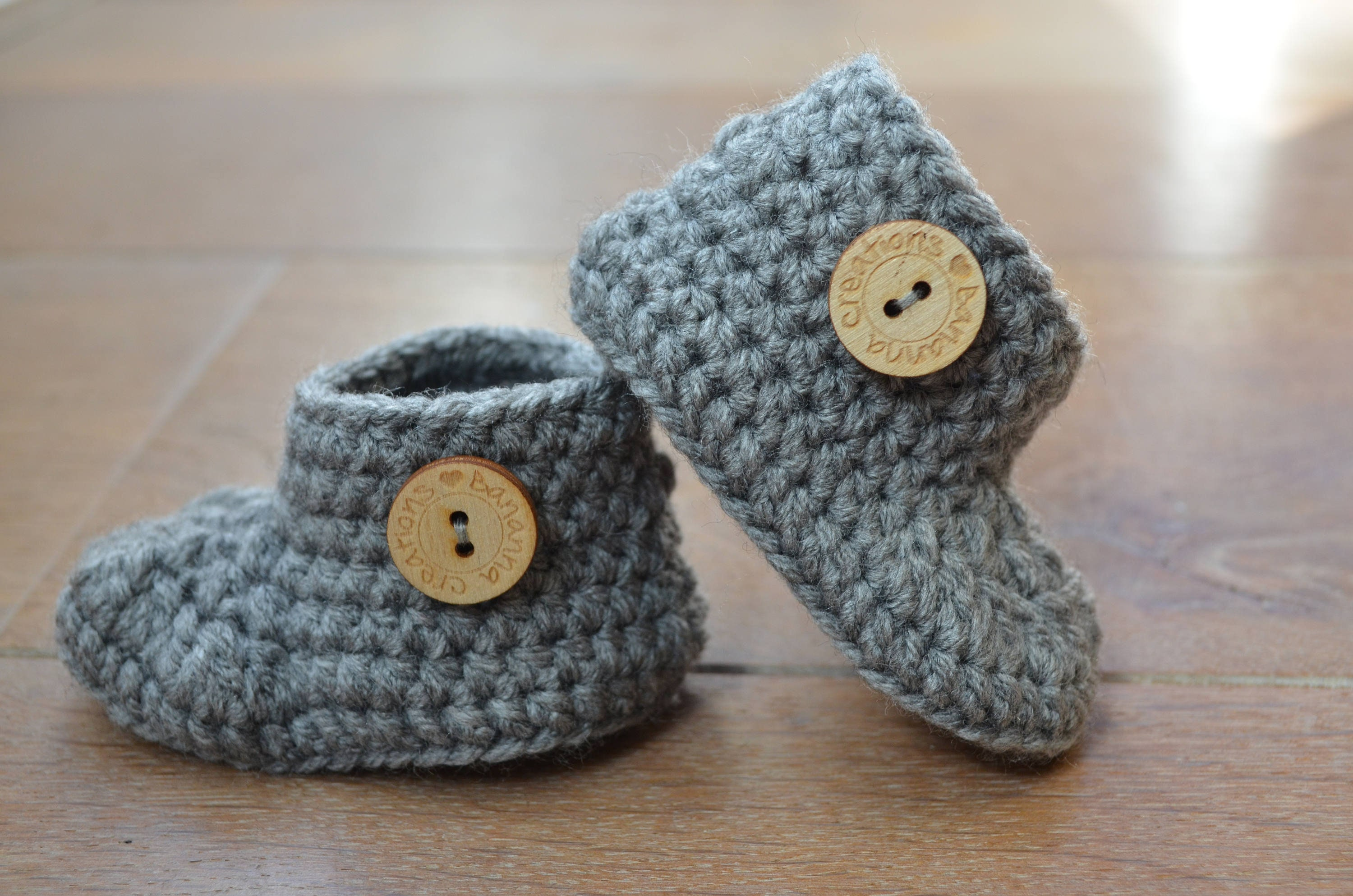 d62468f02cd Crochet baby shoes Pregnancy announcement Crochet baby