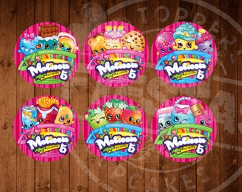 Shopkins Personalized Cupcake Toppers