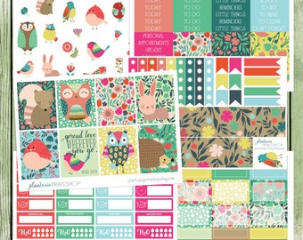 Wherever You Go, 6 to 8 pages, Sidebar, For use with Erin Condren Lifeplanner, Happy Planner, Full Boxes, Checklists, Weekly Kit, Woodland