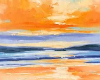 Moments: Orange Sunset
