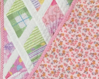 Fleece and Cotton Baby Quilt