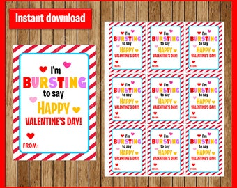 photo relating to Starburst Valentine Printable known as Little ones playing cards topper Etsy