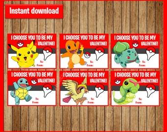 Pokemon Valentine Card Etsy