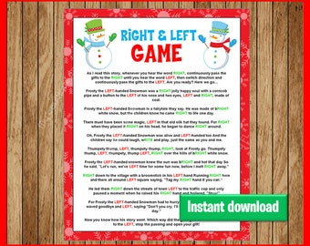 Christmas story games exchanges gifts of the holy spirit