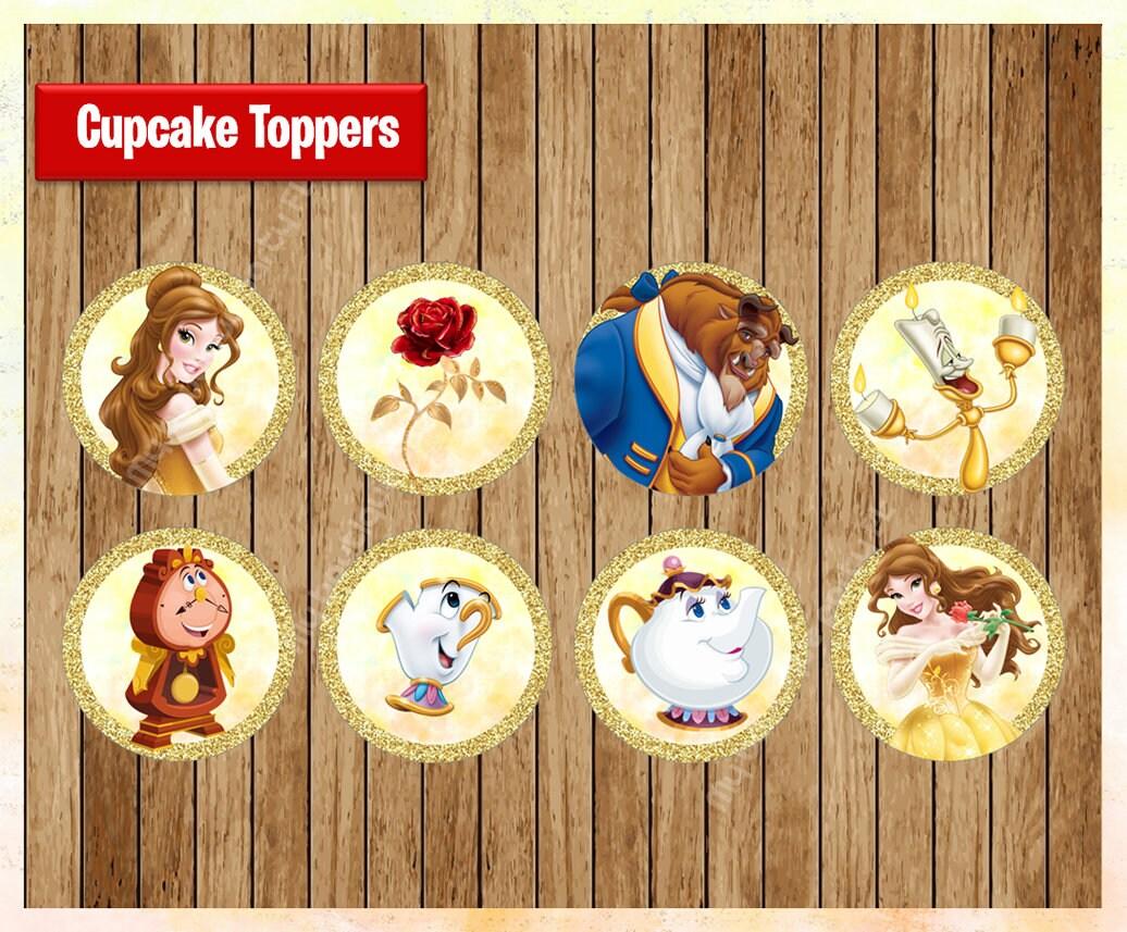 Princess Belle Toppers Instant Download Printable Disney Etsy