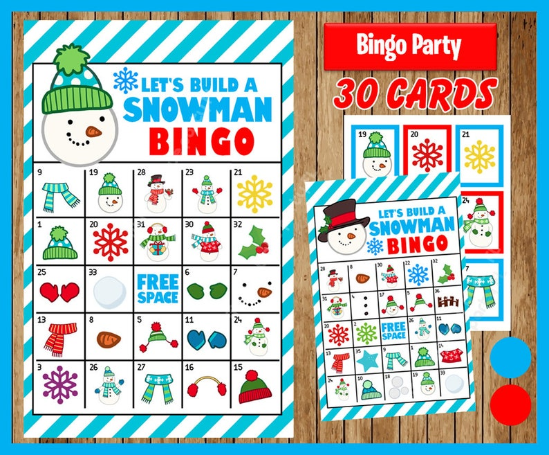 picture relating to Winter Bingo Cards Free Printable known as Will allow Acquire a Snowman Wintertime Bingo Printable Sport - 30 alternate Playing cards - Snowman Memory Sport - Bash Activity Printable - Quick Obtain