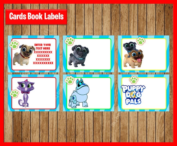 Puppy Dog Pals School Label Name Label Name Tag Stickerback Etsy
