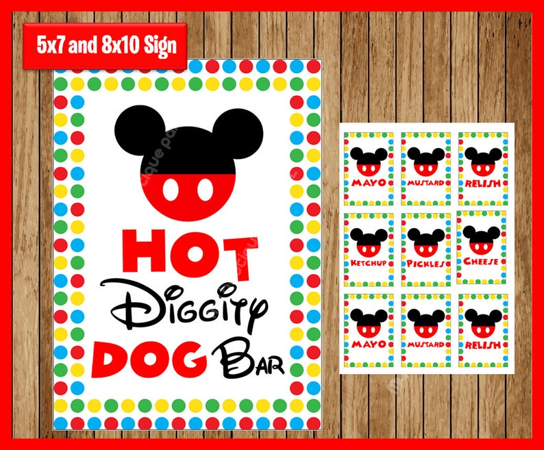 image about Hot Diggity Dog Bar Free Printable identify Mouse Clubhouse Incredibly hot Diggity Doggy Bar Celebration Indicator, Printable Do it yourself, Clubhouse celebration signs and symptoms, 5x7 and 8x10, Immediate Obtain