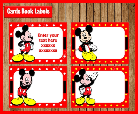 picture regarding Mickey Printable known as Mickey Mouse Printable Playing cards, tags, ebook labels, stickers, little ones playing cards, reward tags, labeling, sbooking EDITABLE Fast Down load