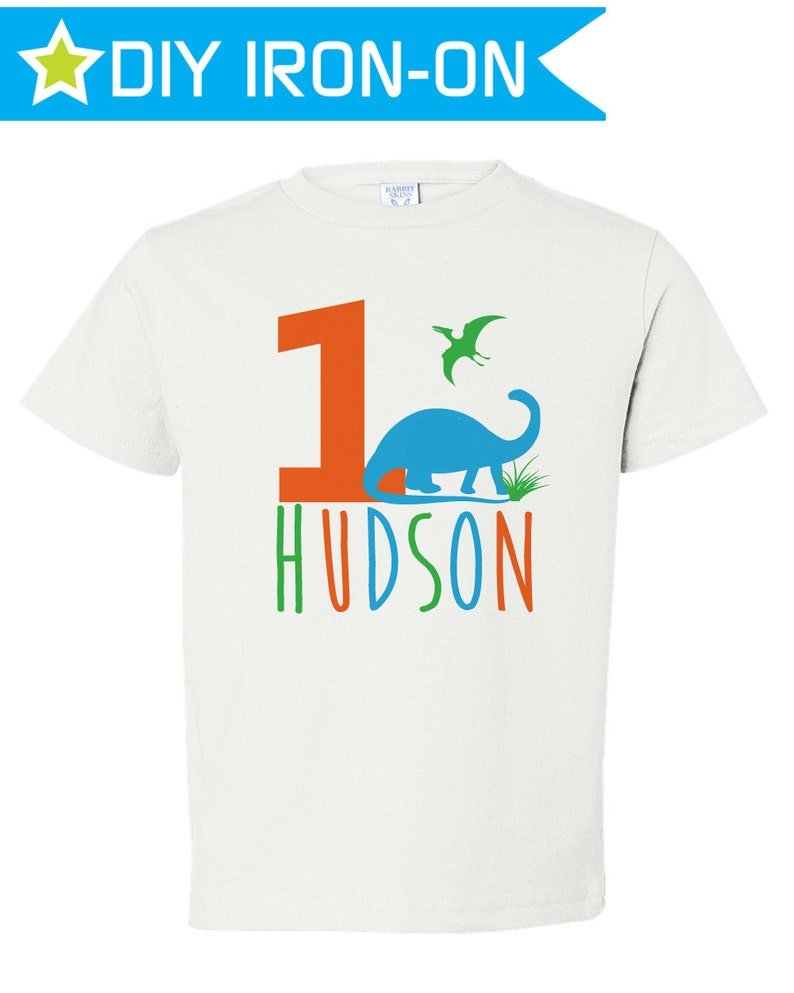 Iron On Birthday Shirt Dinosaur First