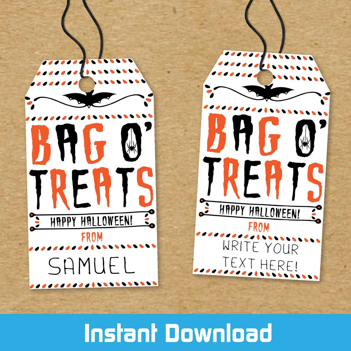 Printable Halloween Treat Bag Tags Print At Home Halloween