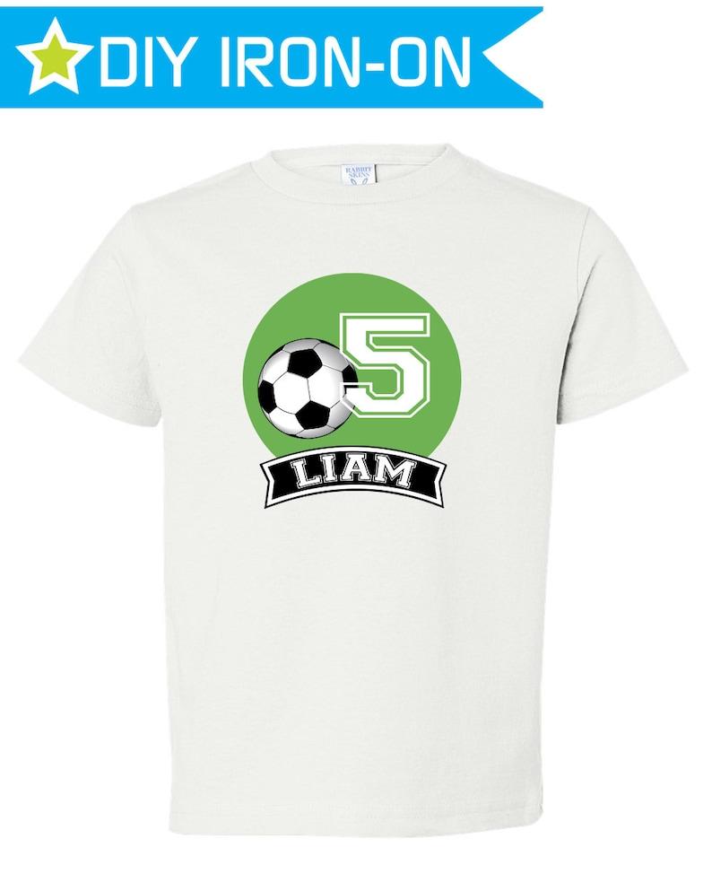 89b66d46d27 Soccer Birthday Shirt Boys Soccer Party Soccer Birthday Iron   Etsy