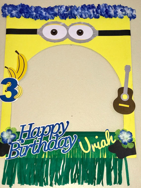 Minion luau Frame Photo | Etsy