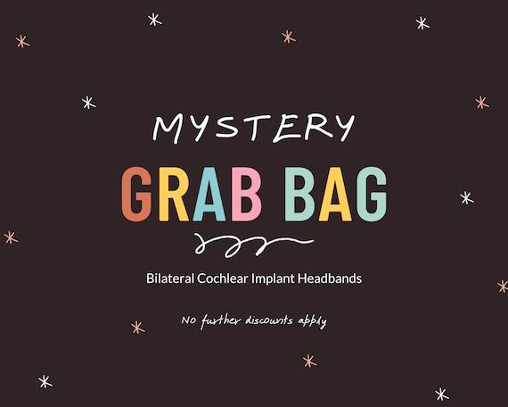 BLACK FRIDAY SPECIAL | Mystery Grab Bags | Read Description Please | Set of 5 Bilateral Cochlear Implant Headbands