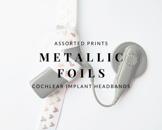 METALLIC FOIL (Assorted Prints) Bilateral Cochlear Implant Headbands