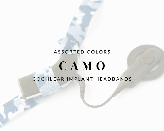 CAMO (Assorted Colors) Bilateral Cochlear Implant Headband